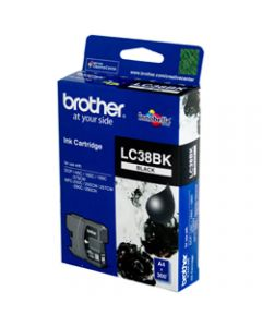 BROTHER INK CARTRIDGE LC-38BK Black
