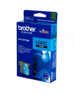 BROTHER INK CARTRIDGE LC-67C Cyan