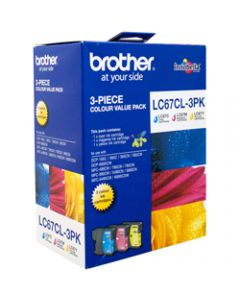 BROTHER INK CARTRIDGE LC-67CL3PK Value Pack Colour