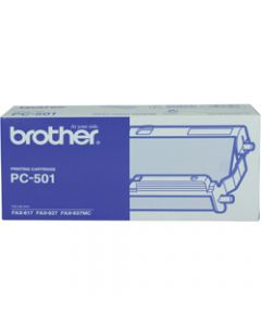 BROTHER PC-501 FILM RIBBON For FAX-827/837MC Pre-loaded frame and gears