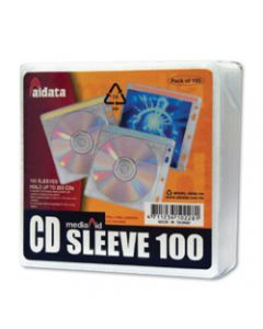 AURORA CD/DVD SLEEVES,Fabric lined Pk100