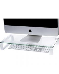 ESSELTE GLASS MONITOR STAND,60CM White Legs