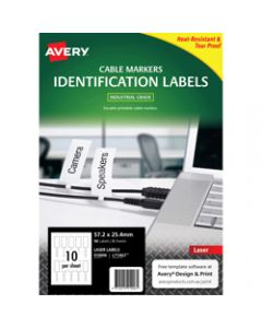 AVERY L7136LT WHITE CORD TAGS,57.2X25.4mm Printable