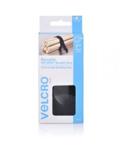 VELCRO BRAND REUSABLE,Wrap 19mmx3m Black