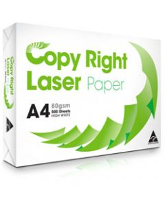 Copy Right Laser Copy Paper A4,80gsm White,Ream of 500