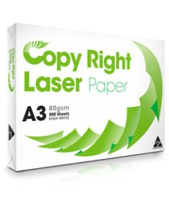 Copy Right Laser Copy Paper A3,80gsm White,Ream of 500