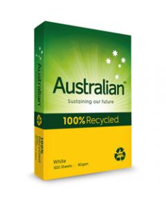 Australian Copy Paper,A3 80gsm 100% Recycled,Cartons of 3 Ream of 500