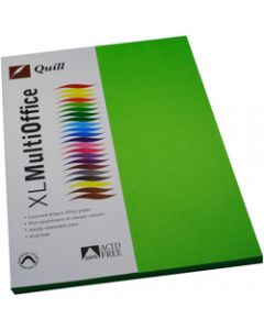 Quill XL Multioffice Paper,A4 80gsm Lime,Pack of 100