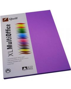 Quill XL Multioffice Paper,A4 80gsm Lilac,Pack of 100