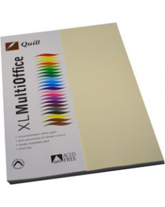 Quill XL Multioffice Paper,A4 80gsm Cream,Pack of 100