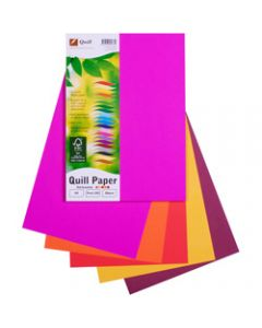 Quill XL Multioffice Paper,A4 80gsm Hot Colours Assorted,Pack of 100