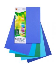 Quill XL Multioffice Paper,A4 80gsm Cold Colours Assorted,Pack of 100