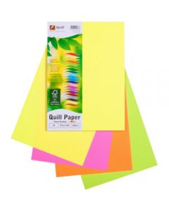 Quill XL Multioffice Paper,A4 80gsm Fluoro Assorted,Pack of 100