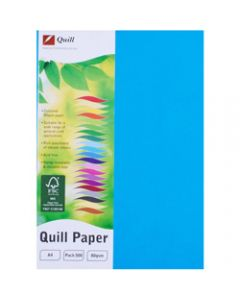 Quill Colour Copy Paper A4,80gsm Marine Blue,Ream of 500