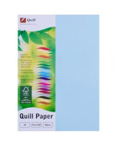 Quill Colour Copy Paper A4,80gsm Powder Blue,Ream of 500