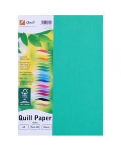 Quill Colour Copy Paper A4,80gsm Green,Ream of 500