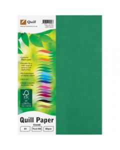 Quill Colour Copy Paper A4,80gsm Emerald,Ream of 500