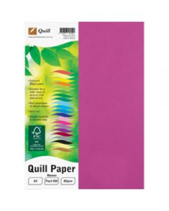 Quill Colour Copy Paper A4,80gsm Maroon,Ream of 500