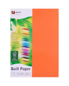 Quill Colour Copy Paper A4,80gsm Orange,Ream of 500