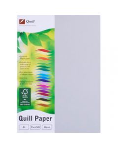 Quill Colour Copy Paper A4,80gsm Grey,Ream of 500