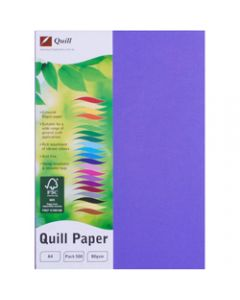 Quill Colour Copy Paper A4,80gsm Lilac,Ream of 500