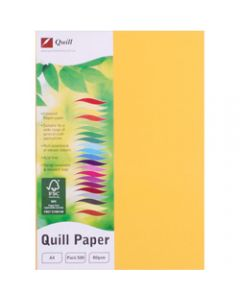 Quill Colour Copy Paper A4,80gsm Sunshine,Ream of 500