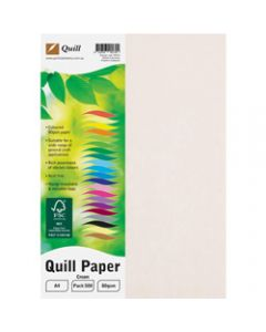 Quill Colour Copy Paper A4,80gsm Cream,Ream of 500