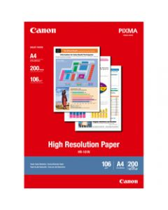 Canon HR-101N A4 106gsm,High Resolution Paper,Pack of 200