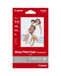 Canon GP501 4 X 6 Inch 170gsm,Glossy Photo Paper,Pack of 100