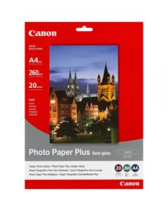 Canon SG201 A4 260gsm,Semi-Gloss Photo Paper,Pack of 20