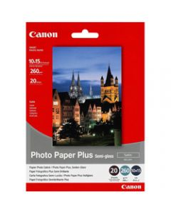 Canon SG201 4 X 6 Inch 260gsm,Semi-Gloss Photo Paper,Pack of 20