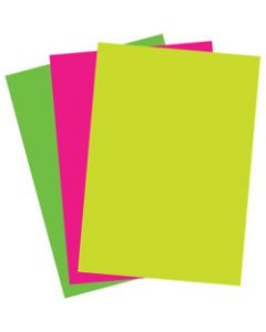 Colourful Days Fluroboard,510x640mm 250gsm Fluoro,Assorted Pack of 25