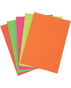 Colourful Days Colourboard,A4 250gsm Fluoro Assorted,Pack of 50