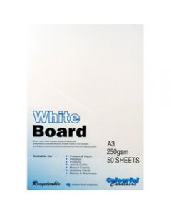 Colourful Days Whiteboard,A3 250gsm White,Pack of 50