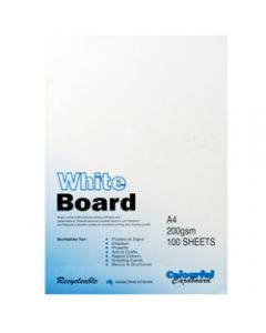 Colourful Days Whiteboard,A4 200gsm White,Pack of 100