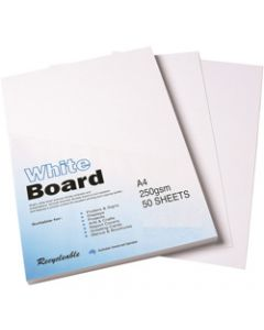 Colourful Days Whiteboard,A4 250gsm White,Pack of 50