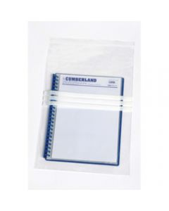 CUMBERLAND RESEALABLE PLASTIC,Write On 305mm x 460mm,Pack of 100
