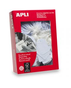 APLI 384 STRUNG TICKETS,384 9mm x 24mm,White Box of 1000
