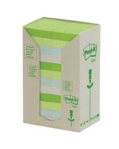 POST-IT 654-RTP NOTES TOWERS,Recycled Pastel 73X73mm,Pack of 16