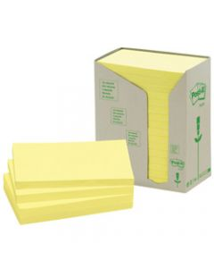 POST-IT 655-RTY NOTES TOWERS,Recycled Yellow 73X123mm,Pack of 16