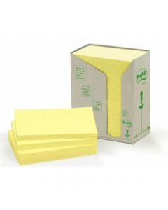 POST-IT 655-RTP NOTES TOWERS,Recycled 76mm X 127mm,Pastel Pack of 16