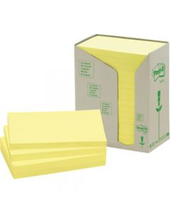 POST-IT 653-RTY NOTES TOWERS,Recycled Yellow 35X48mm,Pack of 24