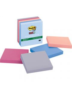 Post-It 654-5SSNRP Super Sticky Notes 76mmx76mm Recycled Bali Assorted Pack 5