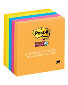 Post-It 654-5SSUC Super Sticky Notes 76mmx76mm Rio De Janeiro Assorted Pack of 5