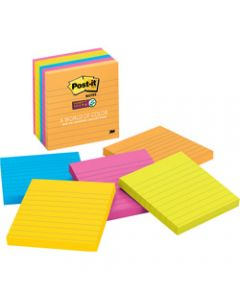 Post-It 675-6SSUC Super Sticky Notes 101x101mm Lined Rio De Janeiro Pack of 6