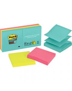 POST-IT POP UP NOTES,R330-6SSMIA Miami Collection,Pack of 6