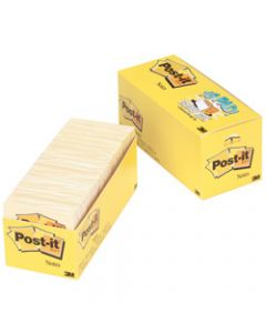 POST-IT 654-18CP NOTES CANARY,Yellow Cabinet Pack 90 Sheets,76x76mm Pack of 18