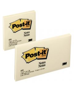 POST-IT 653 NOTES ORIGINAL,100Shts 36x48mm Yellow,Pack of 12