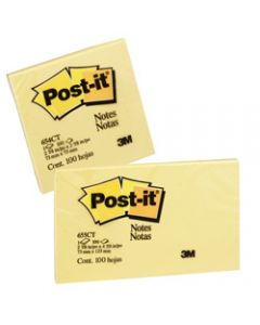POST-IT 654-CT NOTES NEON Citrus Colours 100Shts 73x73mm PK x 12