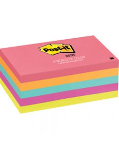 POST-IT 655-5PK NOTES NEON,Capetown 100 Sheets,76x127mm Pack of 5